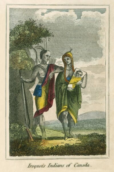 Iroquois Indians - Canada. A book of national types and costumes from the early 19th century