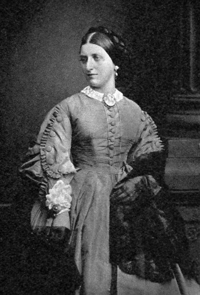Photographic portrait of Isabella Mary Beeton, nee Mayson, the English cookery writer, pictured c.1858. Beeton's 'Book of Household Management', first published in 1859, made her name a household word