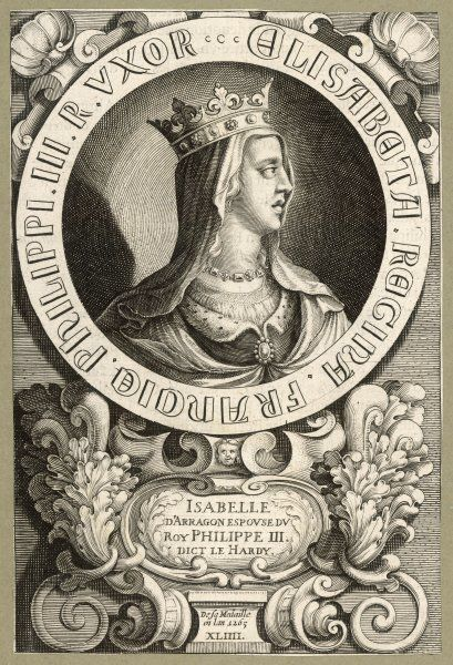 ISABELLE D'ARAGON 1st queen of Philippe III le Hardi, king of France