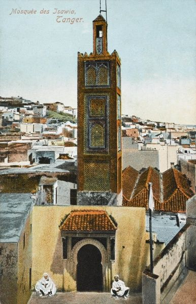 The Minaret of the Isawiya Mosque, Tangiers, Morocco Date: circa 1910s