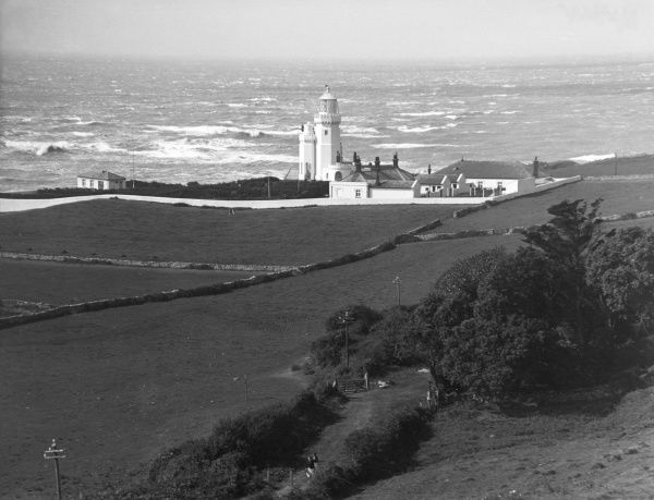 St. Catherine's Lighthouse, Isle of Wight, Hampshire, England. Date: 1950s
