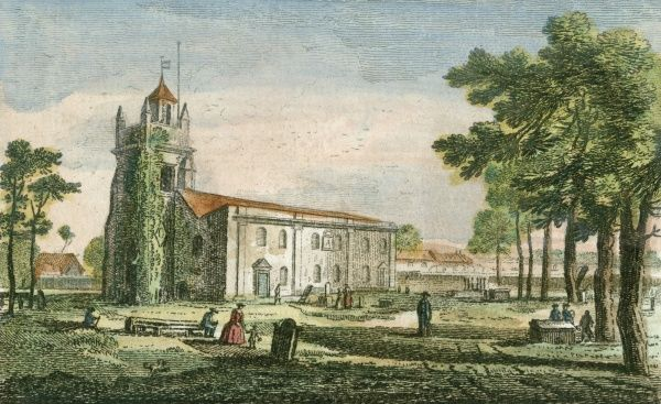 Isleworth church, now in London, seen from the south west Date: late 18th century