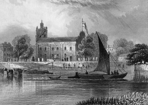 Isleworth Church, seen across the Thames Date: 1846