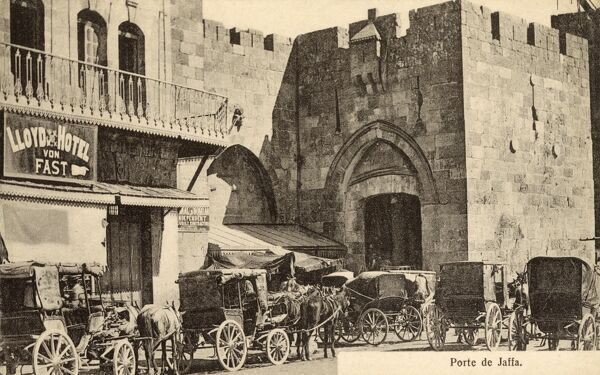 Israel - Jaffa Gate, Jerusalem. British general Edmund Allenby entered the Old City through the Jaffa Gate in 1917 on foot, in a show of respect for the city