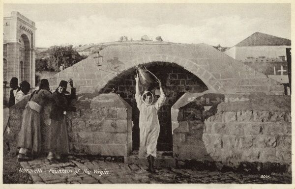 Israel - Nazareth - Fountain of the Virgin Date: circa 1910s