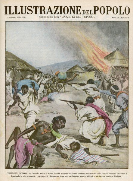 The Ethiopian tribe of Issa attacks the Assaimara tribe in French Somaliland
