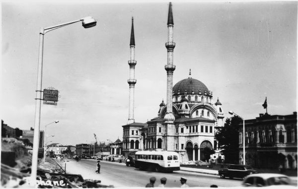 Istanbul, Turkey - Nusretiye Mosque, Tophane - erected between 1823-26 by Mahmud II as part os a scheme to rebuilt the Tophane Artillery Barracks, located by the cannon Factory on the European side of the Bosphorus