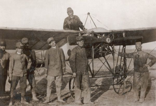 Italian army aviators during the Italo-Turkish War (1911-12) -- the first use of aeroplanes in warfare