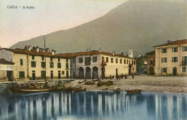 Italy - Colico - The Port. Colico is in the province of Lecco, Lombardy, situated near the tip of the northern arm of Lake Como. Date: circa 1910s