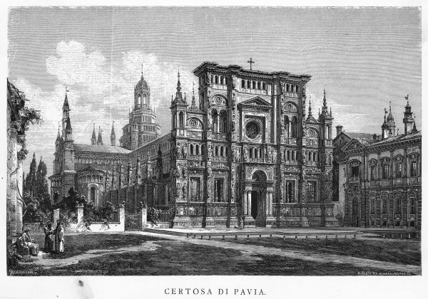 La Certosa (charterhouse) di Pavia, built by the Carthusians in the 15th century