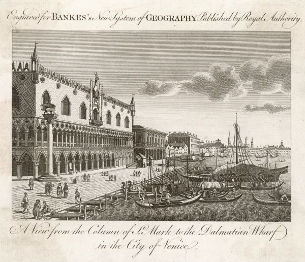 The waterfront at the piazza San Marco in the eighteenth century