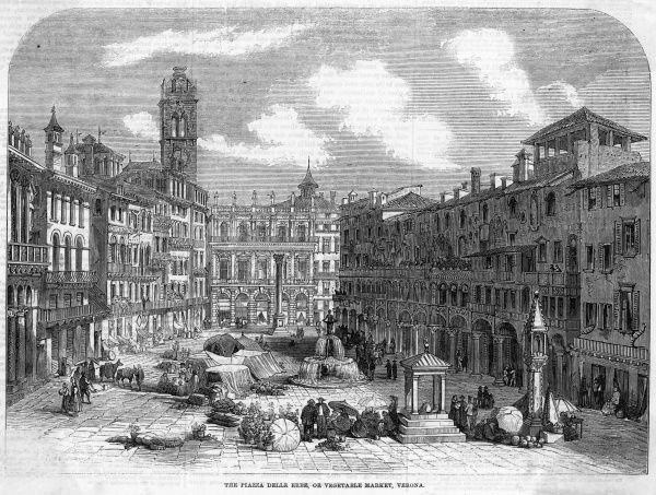 The Piazza delle Erbe (vegetable market)