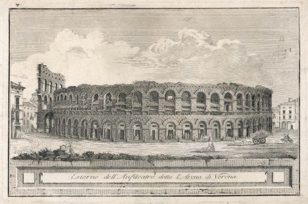 View of the Amphitheatre in Verona