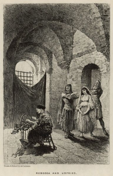 Rebecca, inprisoned by the Normans, meets Urfried