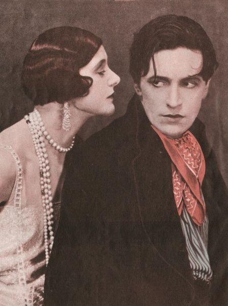 IVOR NOVELLO (Ivor Davies) Welsh actor of stage and screen, playwright and composer, with Isabel Jeans in 'The Rat&#39