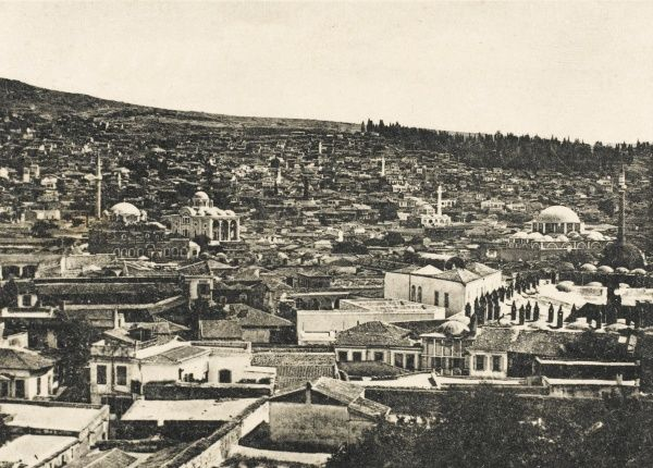 A general view over the rooftops of Smyrna (Izmir), Turkey