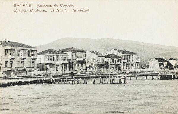 The Waterfront in the Cordelio (Karsiyaka) suburb of Izmir (Smyrna), Turkey with jetty for small boats