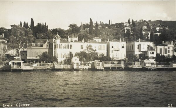 A Panoramic view of the Izmir district of Goztepe from the Sea