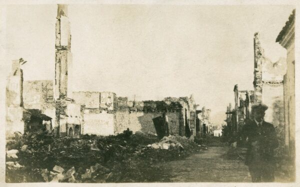Izmir, Turkey - View of the city 24 hours after bombardment by British in March 1915