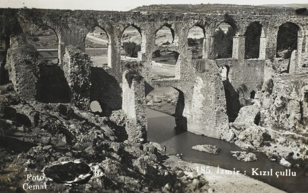 The Roman Aqueduct at Izmir (Smyrna), Turkey