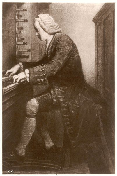 JOHANN SEBASTIAN BACH German organist and composer at the keyboard