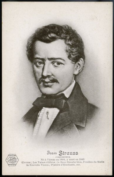 JOHANN STRAUSS (ELDER) Austrian composer of waltzes, polkas, galops, quadrilles and marches