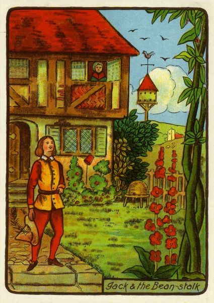 Jack & the Beanstalk -- Jack finds a beanstalk growing in his garden