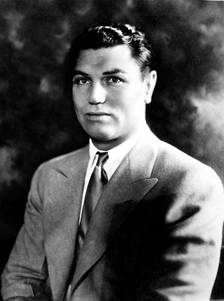 Photographic portrait of Jack Dempsey, the American heavyweight boxer. Date of portrait unknown
