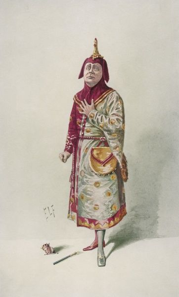 C Herbert Workman in the role of Jack Point, the jester, in Yeoman of the Guard