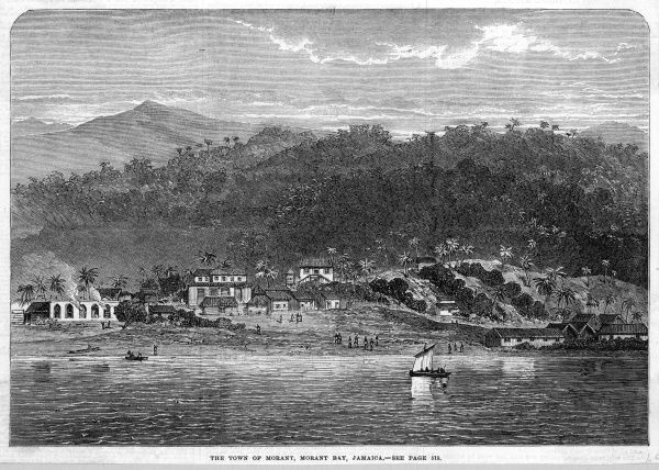 The town of Morant, in Morant Bay