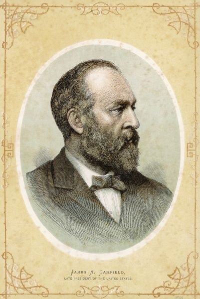 JAMES ABRAM GARFIELD 20th US President Date: 1831 - 1881