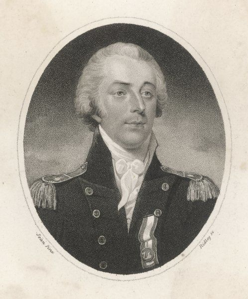JAMES BARON SAUMAREZ Naval commander, when rear- admiral of the Blue Squadron (probably during the Napoleonic War)