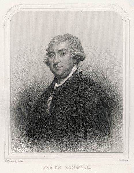 JAMES BOSWELL Scottish lawyer and biographer of Samuel Johnson