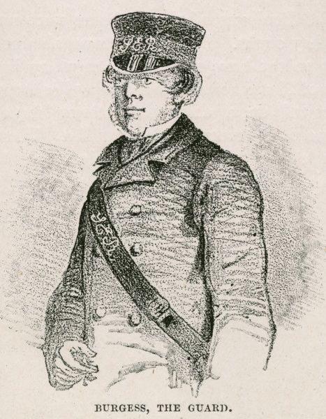 James Burgess, the railway guard who was part of the gang that took part in the bullion robbery on the South-Eastern railway on the night of 15 May 1855