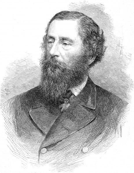 Engraved portrait of James Hamilton (1811-1885), 2nd Marquis of Abercorn, later 1st Duke of Abercorn, pictured in 1866 when he was serving as Lord Lieutenant of Ireland