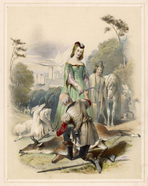 James I and his daughter Elizabeth (later the 'Winter Queen' of Bohemia) go deer- hunting successfully in Greenwich Park