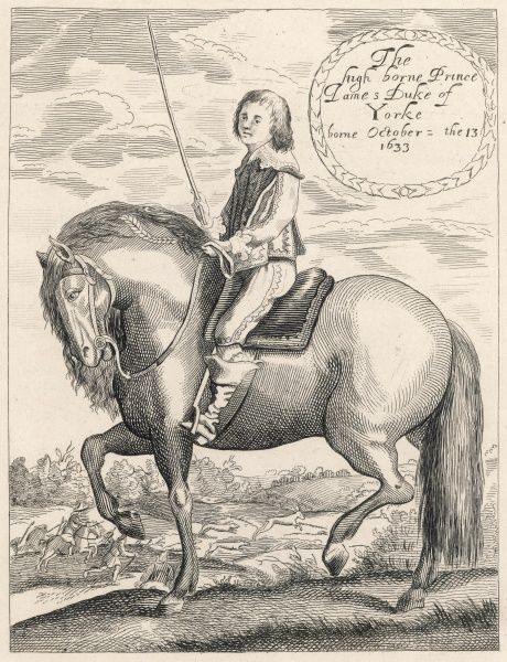 JAMES II - as a youth, riding
