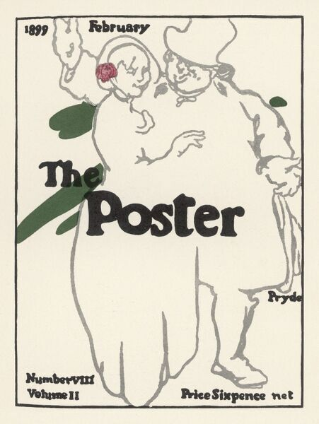 Cover by Pryde for the magazine 'The Poster', February 1899