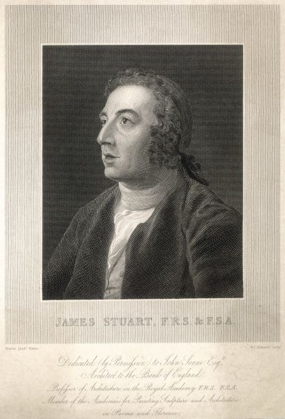 JAMES STUART Painter and architect, known as 'Athenian' Stuart for his devotion to the classical style