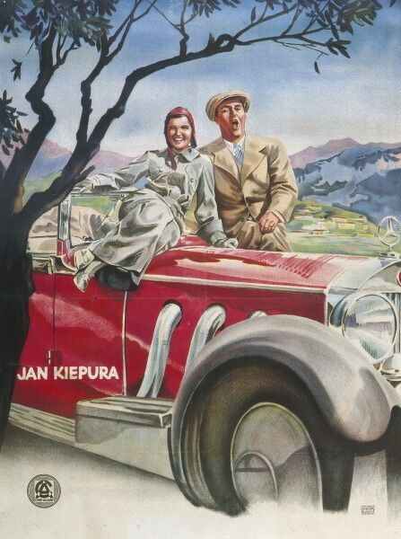 The artwork for a Film staring Jan Kiepura, the Polish singer (tenor) and actor