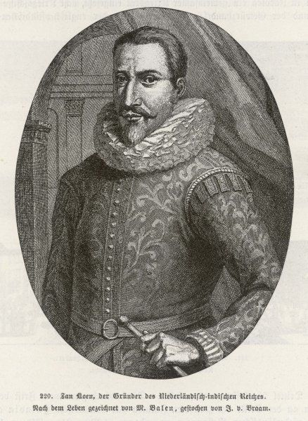 JAN PIETERSZOON COEN (or Koen) Dutch merchant, pioneer in the (Dutch) East Indies, where he founded Batavia
