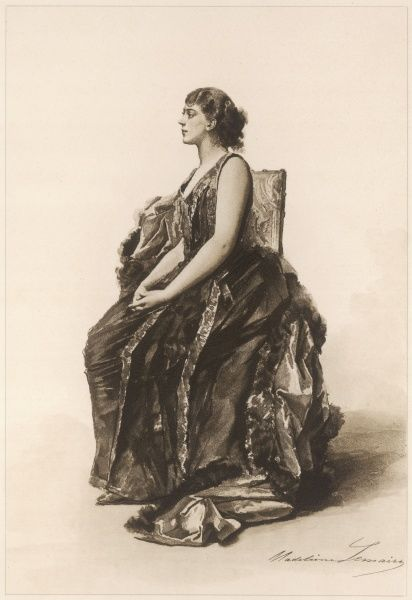 JANE HADING - French actress, real name Jeanne Alfredine Trefouret : a leading performer who toured the U.S. with Coquelin