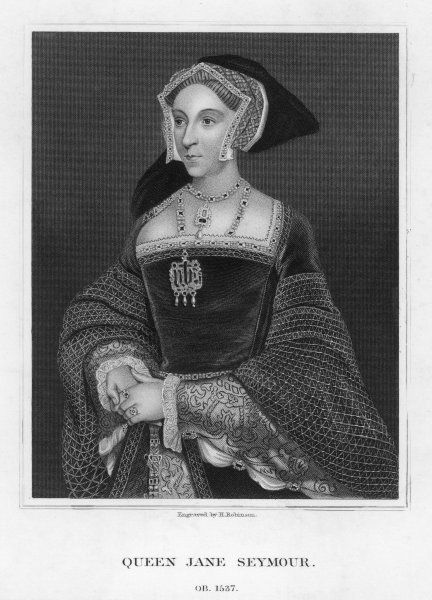 JANE SEYMOUR 3rd wife of Henry VIII; died in childbirth; mother of Edward VI