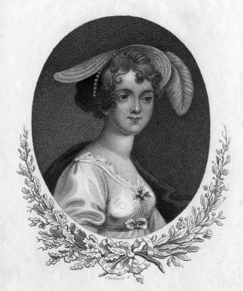 JANE ELIZABETH (COKE) viscountess ANDOVER wife (1) of Charles Howard, viscount, (2) of admiral sir Henry Digby. Depicted in a striking bonnet. Date: - 1863