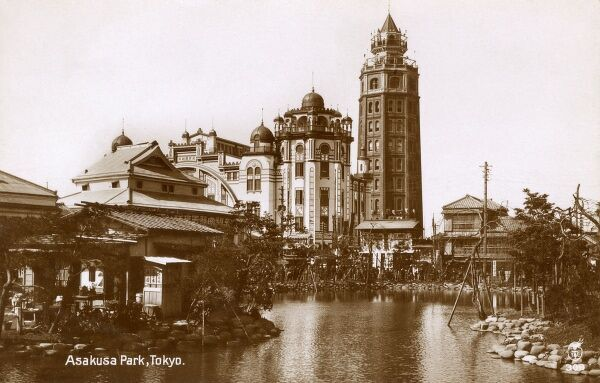 Japan - Asakusa Luna Park, Tokyo - the park was designed to mimic the original Luna Park that was built in Brooklyn, New York in 1903. Date: circa 1920