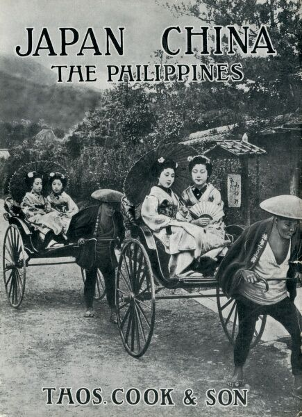 Brochure front cover advertising Thomas Cook's tours to Japan, China and the Phillippines. Date: circa 1920s