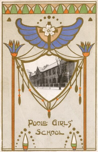 The Bishop Poole's Memorial Girl's School in Osaka, Japan - one of the flagship CMS (Christian Missionary Service) Schools in Japan. The school opened in 1879. Date: circa 1910