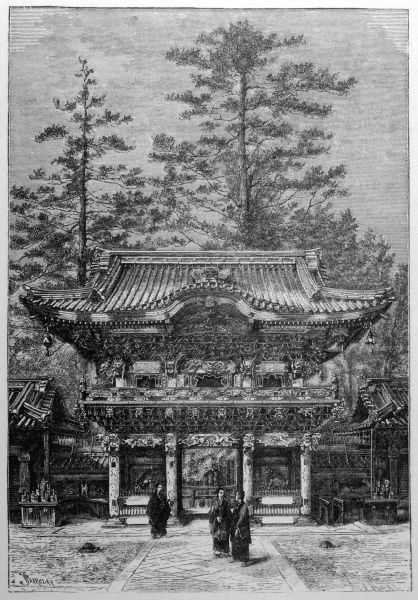 JAPAN: Portico of the Temple of the Four Dragons