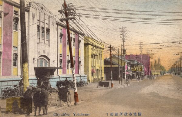 Japan - Yokohama - City Office in the business sector Date: circa 1910