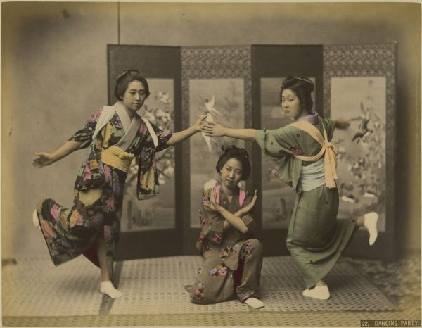 Japanese dancing party